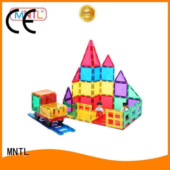 MNTL purple Magnetic Building Tiles DIY For Children