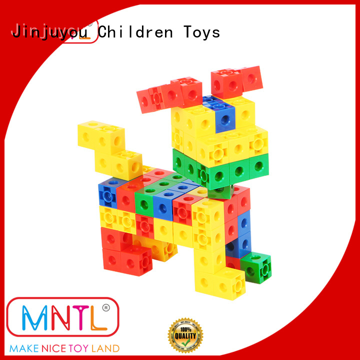 Educational Conventional plastic construction toys ABS plastic yellow, For kids