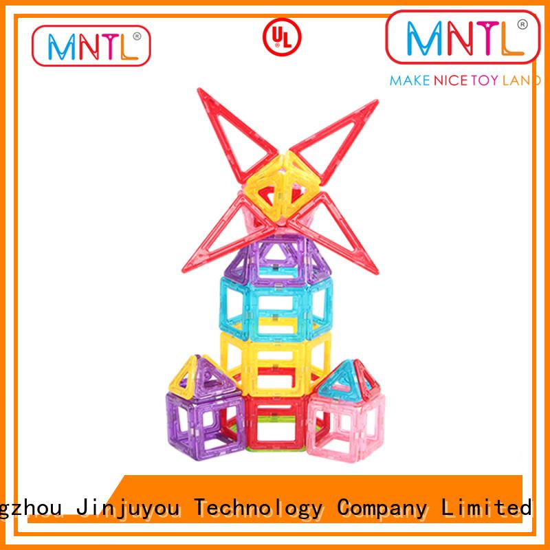 MNTL purple magnetic building block set for wholesale For Children
