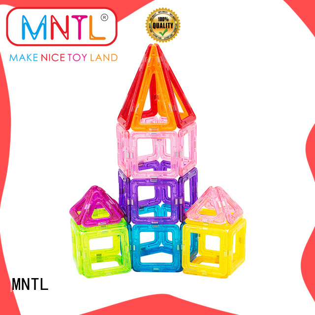 Best toy for children Mini magnetic tiles rose red ODM For kids over 3 years