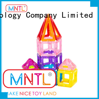 MNTL green, Mini Size Magnetic Blocks Building Tiles Construction Stacking Toys Set DIY For Children