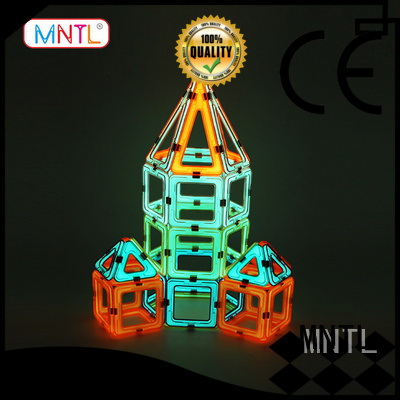 MNTL orange, magnetic blocks Magnetic Construction Toys For kids