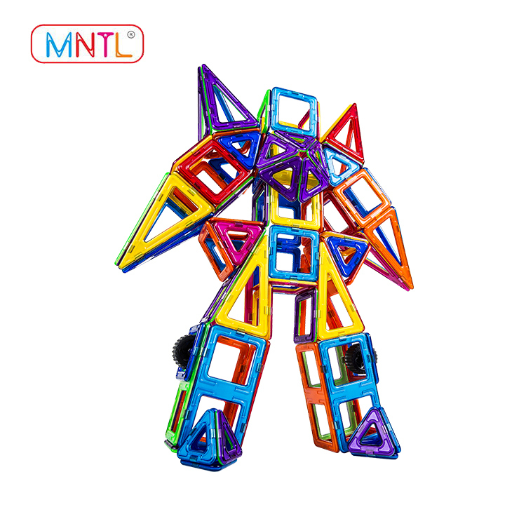 MNTL Rotatable Magnetic Building Blocks Toys A8113 208 PCS Magnetic Tiles for Kids