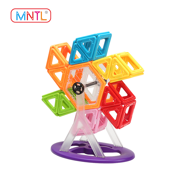 MNTL 84pcs Educational Magnetic Tiles, Magnetic Building Toys A8162 Solid Color Blocks Set