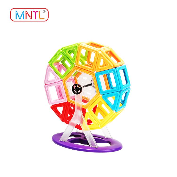 MNTL orange, magnetic shape toys Magnetic Construction Toys For Toddler-2