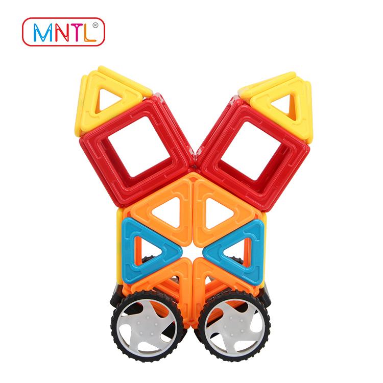 MNTL 100 PCS Magnetic Blocks with Wheels, Magnetic Building Toys A8164 Set