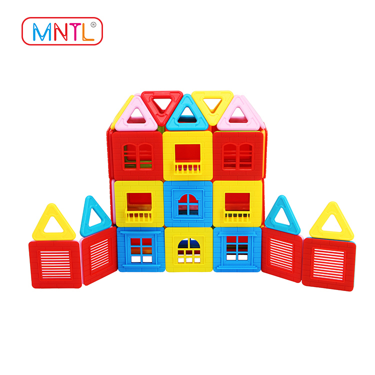 MNTL Deluxe 100Pcs Plastic Magnet Toy Blocks Set for Girls & Boys A8172 set