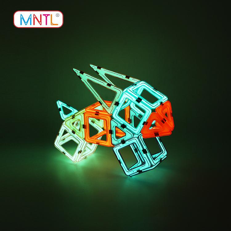 MNTL orange, magnet toy blocks DIY For kids-2