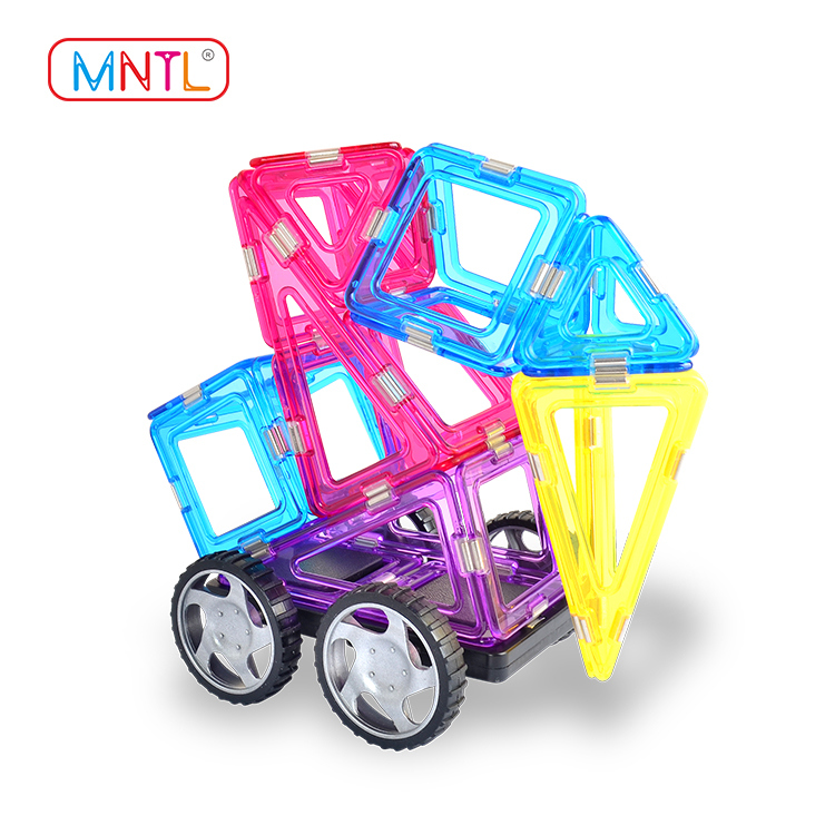 MNTL Value Set : Crystal Color Magnetic Blocks A8204 168 Piece Set Educational Toy for Learning While Playing