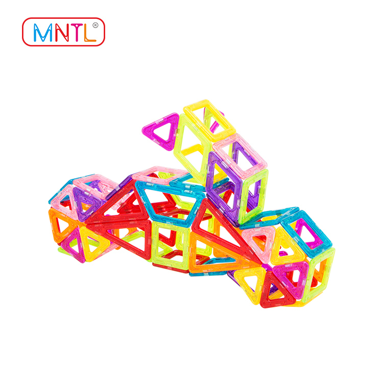 MNTL Magnetic MINI Size Tiles Building Blocks Diy Toys Set A8309 200 pcs with Wheels and Ferris Wheel Set For Kids