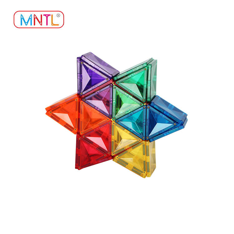 MNTL 100 Pieces Set Magnetic Tiles For Toddlers Clear Magnetic 3D Building Blocks Construction Playboards, Creativity beyond Imagination, Inspirational, Recreational, Educational Conventional B8105M