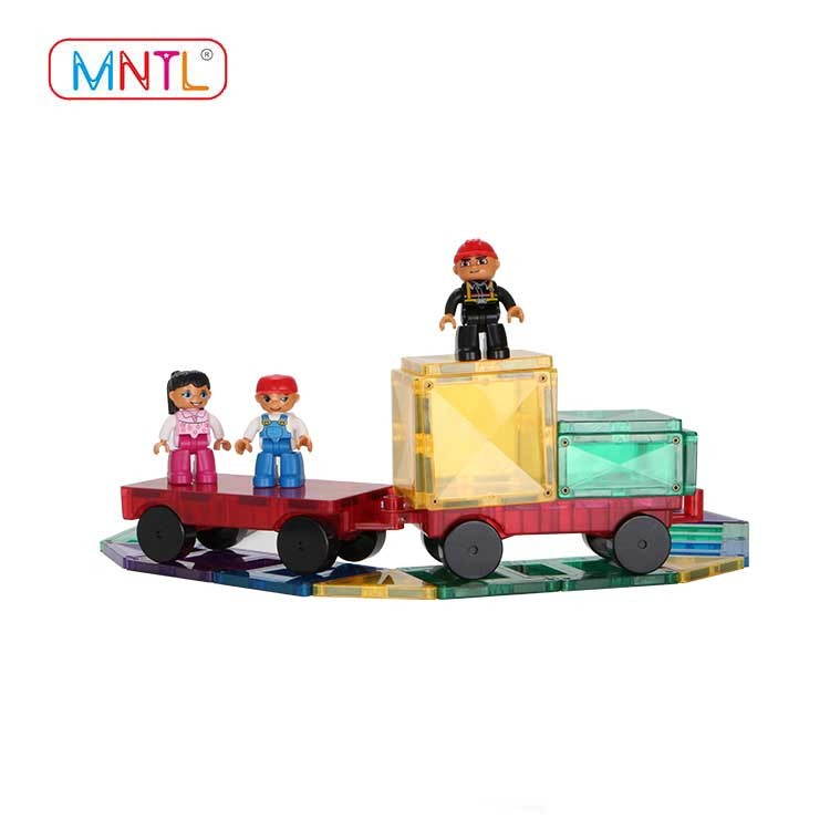 MNTL B8122 80pc Building Block Toy Deluxe Construction Kit Clear Color Magnetic Toy Building Set