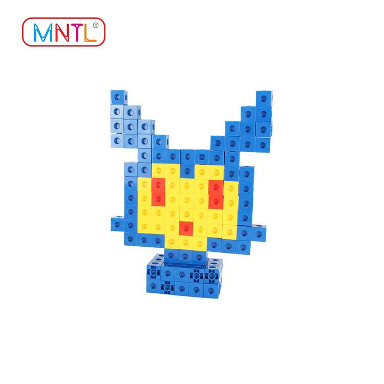 ABS plastic baby blocks toys deep blue deep blue For kids-1