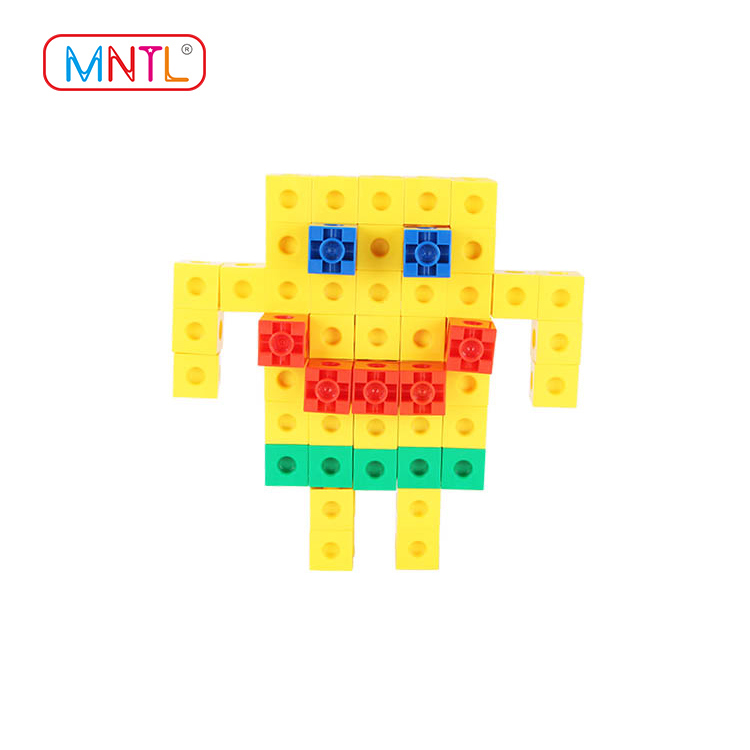MNTL Educational Toy Plastic Stacking Blocks Connecting Cube Kids Diy Toy H8101 Set Model Building Toy