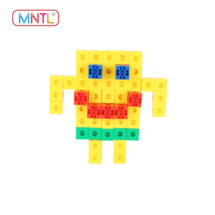 MNTL deep blue plastic construction toys Educational Conventional For Children