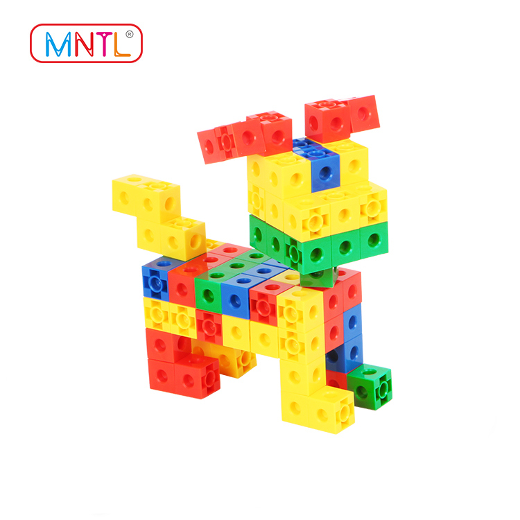 MNTL 100Pcs Children Construction Colorful Cube Plastic Bricks Toys H8102 Set for Kids