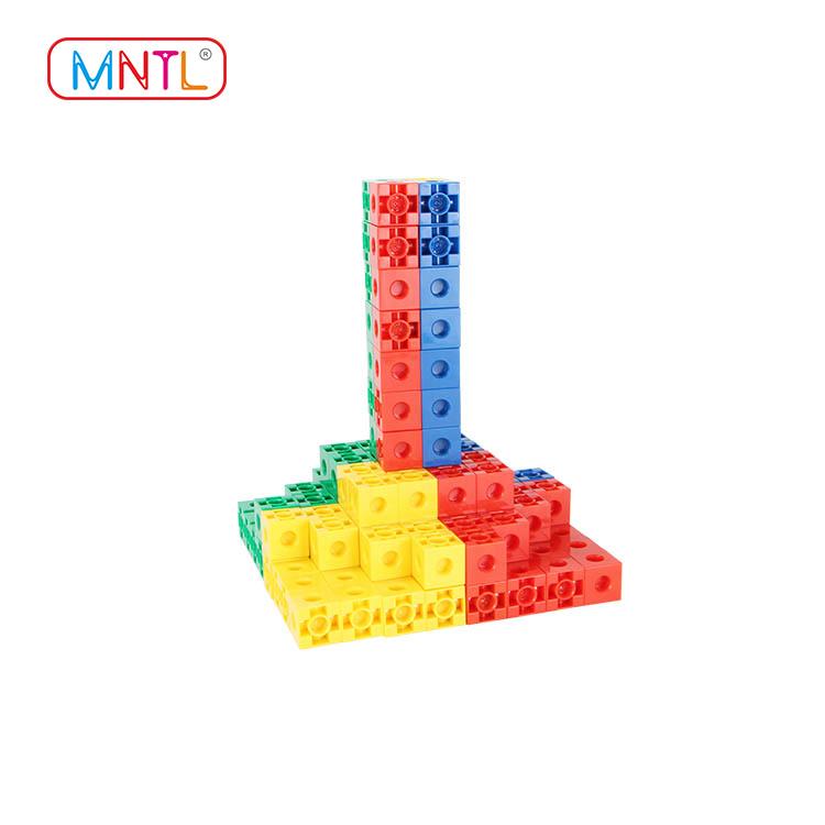 MNTL rose red plastic building bricks purple For kids-2