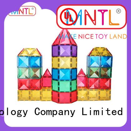 MNTL solid mesh magnetic tiles kids Best building block For Children
