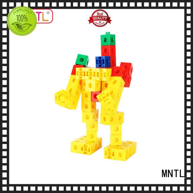 MNTL Red, plastic blocks for construction green, For Toddler