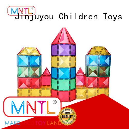 MNTL deep blue magnet building tiles Magnetic Construction Toys For Children