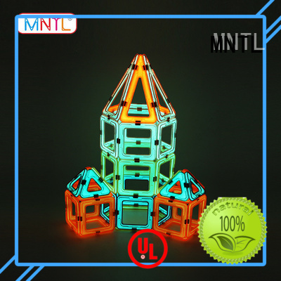 orange, magnetic blocks Magnetic Construction Toys For Children MNTL