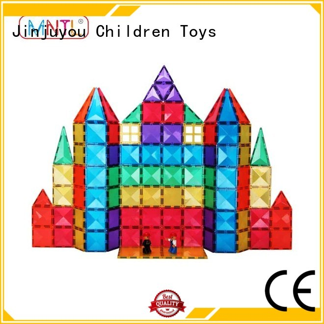 rose red Magnetic Building Tiles Magnetic Construction Toys For 3 years old