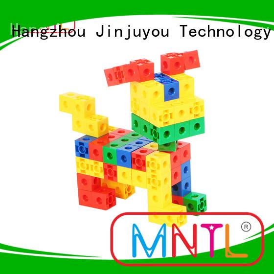Plastic Magnetic Building Tiles rose red For kids MNTL