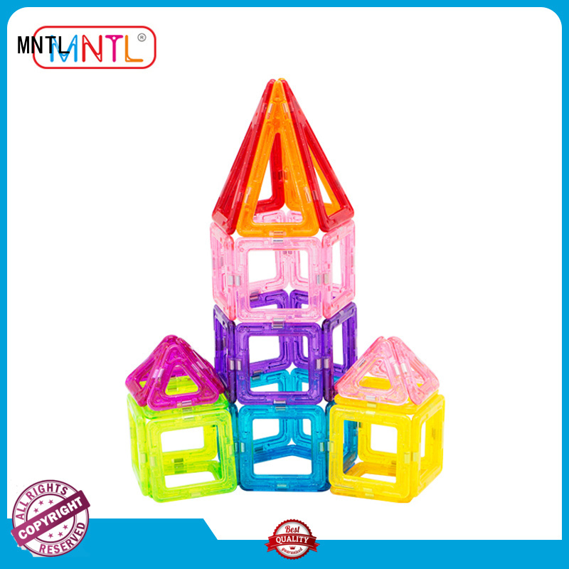 MNTL purple Mini magnetic tiles for wholesale For kids over 3 years