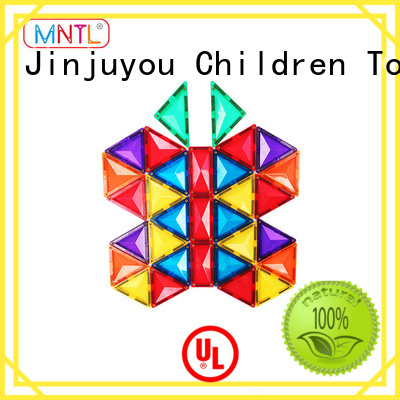 MNTL Red, Magnetic Building Tiles Magnetic Construction Toys For 3 years old