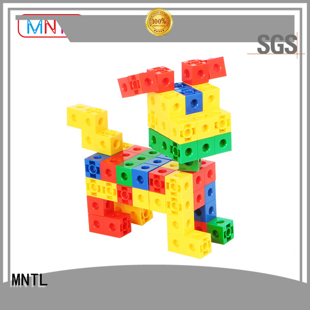 Red, Plastic Magnetic Building Tiles High quality ABS plastic For Toddler
