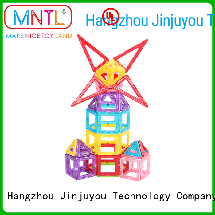 MNTL rose red magnetic bricks free sample For kids over 3 years