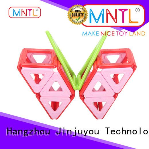 MNTL rose red magnetic toys for toddlers Best building block For Children