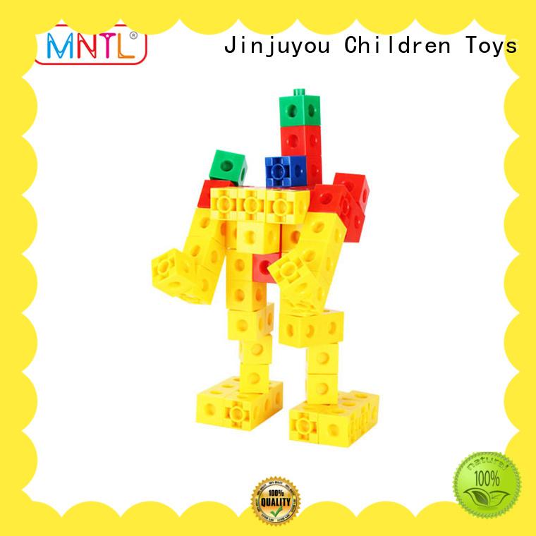 orange, Plastic building toys deep blue ABS plastic For Children