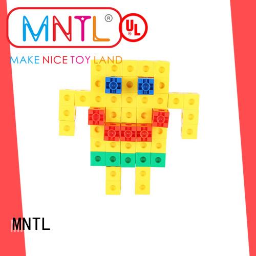 MNTL Recreational Plastic Magnetic Building Tiles rose red For Children