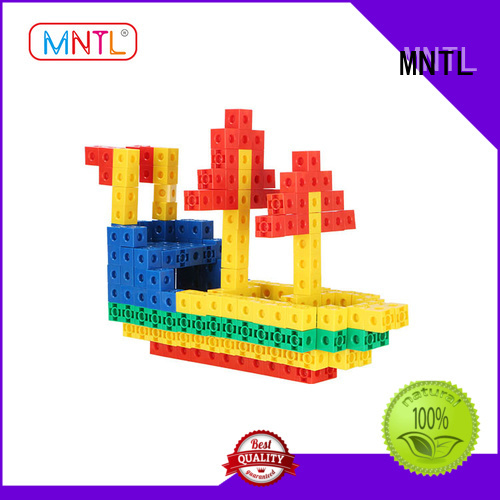 MNTL orange, plastic blocks toys strong magnet For Toddler