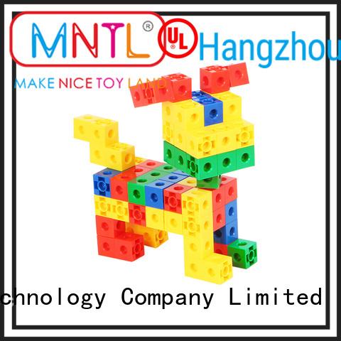 Inspirational plastic blocks toys High quality rose red For Children