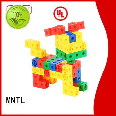 MNTL High quality Plastic Magnetic Building Tiles orange, For kids