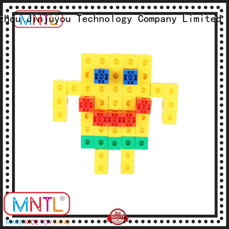 Inspirational plastic blocks toys deep blue ABS plastic For Toddler