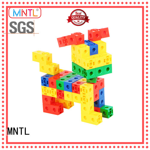 MNTL ABS plastic Plastic Magnetic Building Tiles deep blue For Toddler