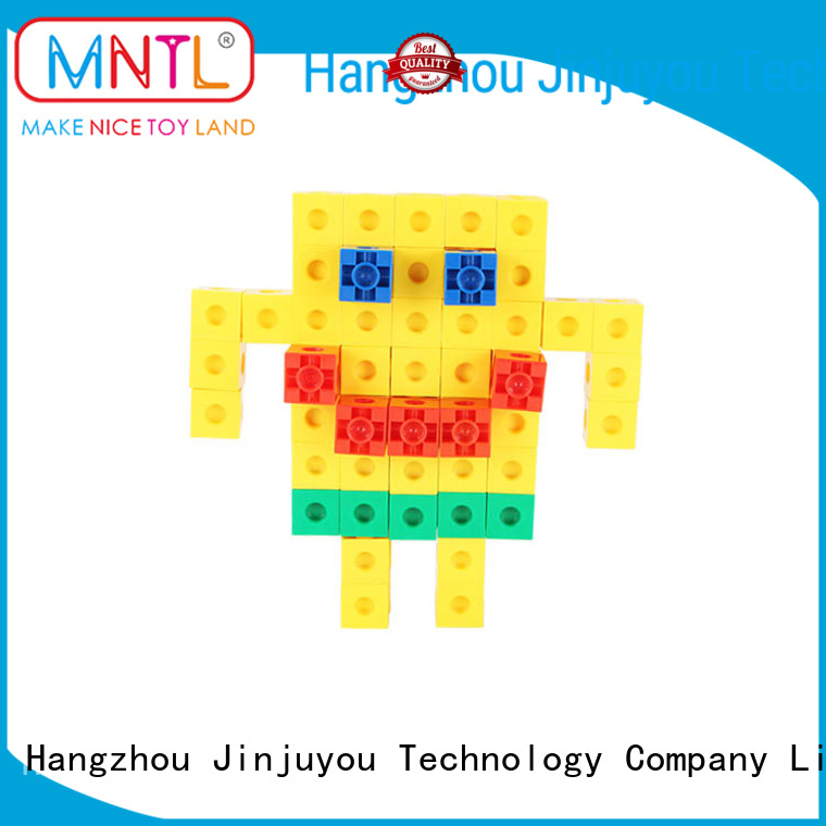 ABS plastic Plastic Magnetic Building Tiles orange, green, For kids