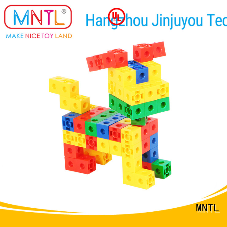 MNTL purple plastic blocks toys orange, For kids