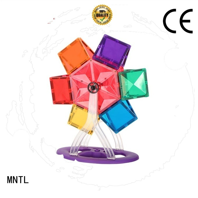 MNTL rose red Magnetic Building Tiles Best Toys For kids