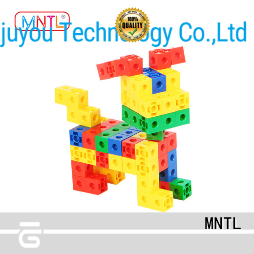 MNTL purple recycled plastic building blocks rose red For Children