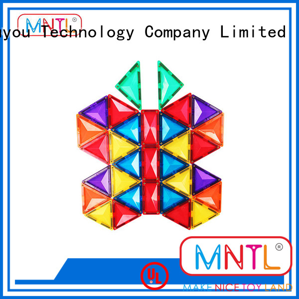 MNTL portable magnetic tiles Magnetic Construction Toys For Children
