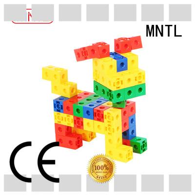 MNTL yellow, Plastic Magnetic Building Tiles rose red For kids