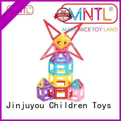 MNTL deep blue Mini magnetic tiles OEM For Children
