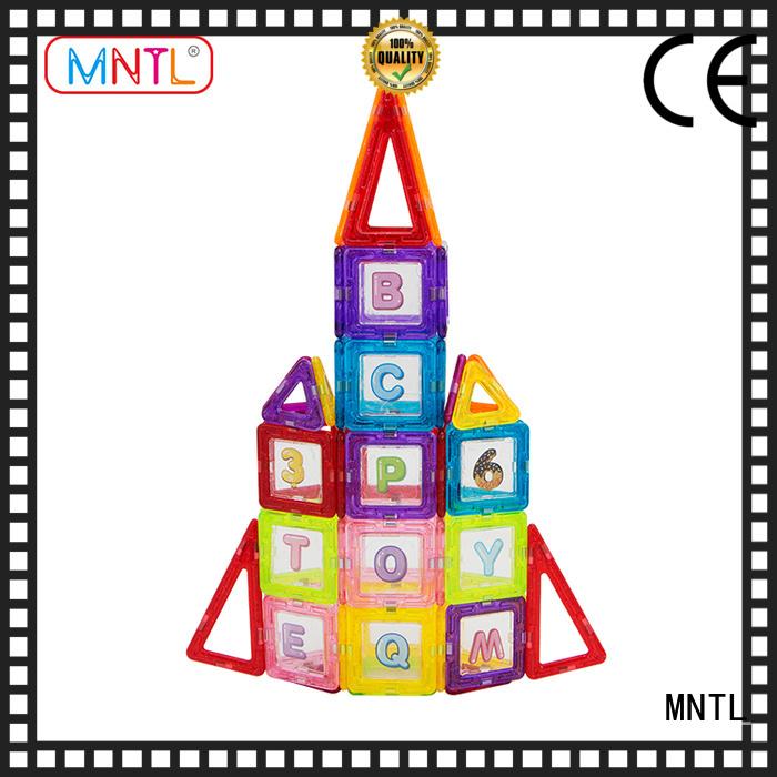 MNTL ABS plastic magnetic building kit free sample For Children