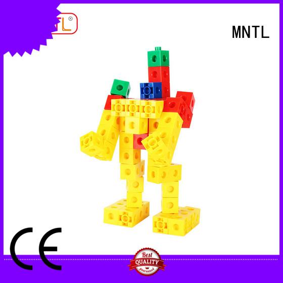 MNTL blue, toy building bricks plastic yellow, For Children