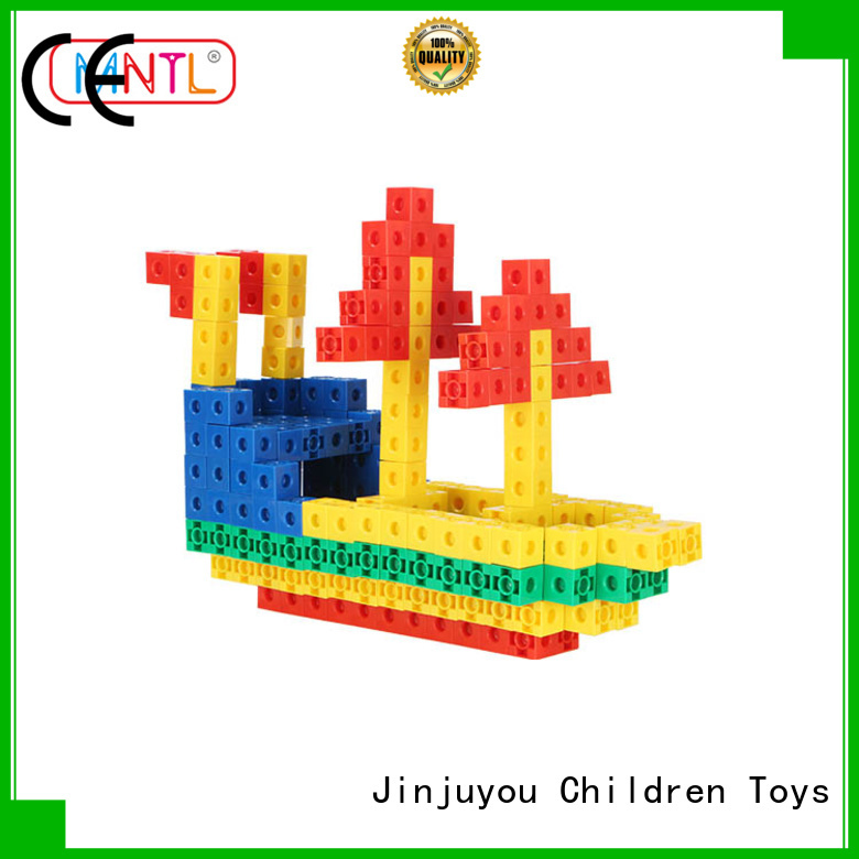 rose red Plastic building toys ABS plastic deep blue For Children