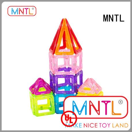 MNTL 2019 hot toys Mini magnetic tiles ODM For kids over 3 years